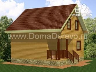 Фото 4: проект дом из бруса 7 на 7, с крыльцом