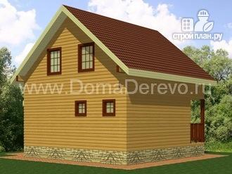 Фото 3: проект дом из бруса 7 на 7, с крыльцом