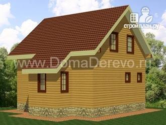 Фото 2: проект дом из бруса 7 на 7, с крыльцом