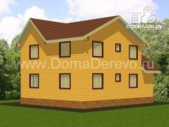 Фото 3: проект дом из бруса 8 на 10, с террасой