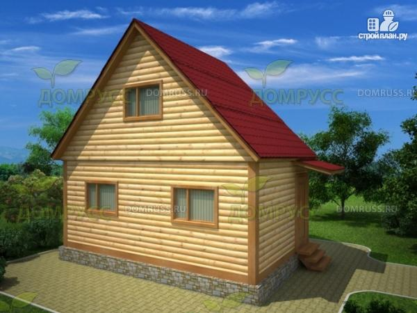 Фото: проект брусовой дом 4х6 без крыльца