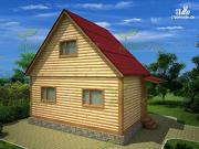 Фото: брусовой дом 4х6 без крыльца