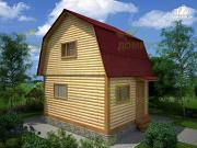 Проект дачный брусовой дом 4х5 без крыльца