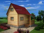 Проект брусовой дом 4х5