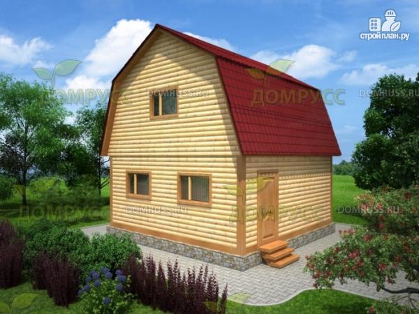 Фото: проект дом из бруса пятистенок 6х6