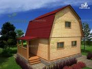 Фото: дом 6х6 из бруса с большой спальней