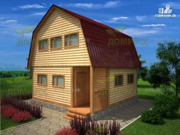 Фото: проект дом 6х6 из профилированного бруса