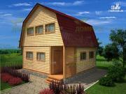 Проект дом 6х6 из профилированного бруса