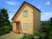Фото: дом 6х6 из бруса, с просторной планировкой
