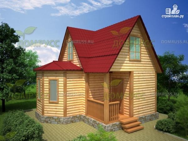 Фото: проект дом 6х6 из бруса с эркером и кукушкой
