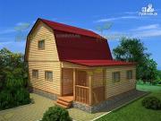 Проект дом из бруса 7х9, с верандой
