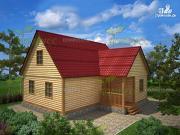 Проект брусовой дом 8.5х9