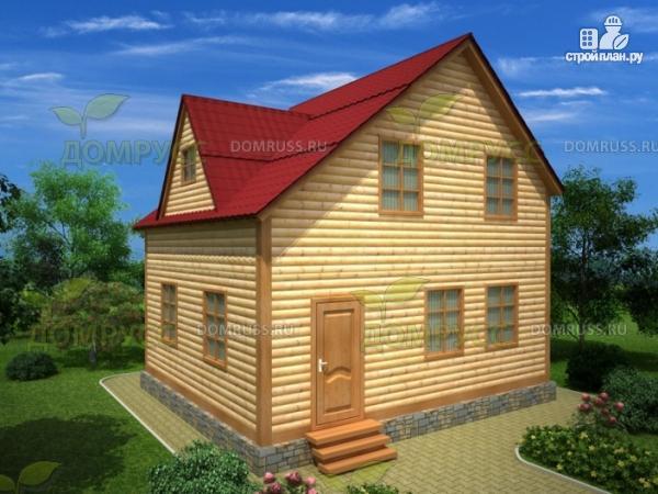 Фото: проект дом из бруса 6х7