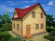 Проект дом из бруса 6х7
