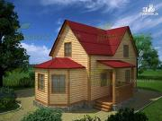 Проект дом из бруса 8х10.5 с эркером