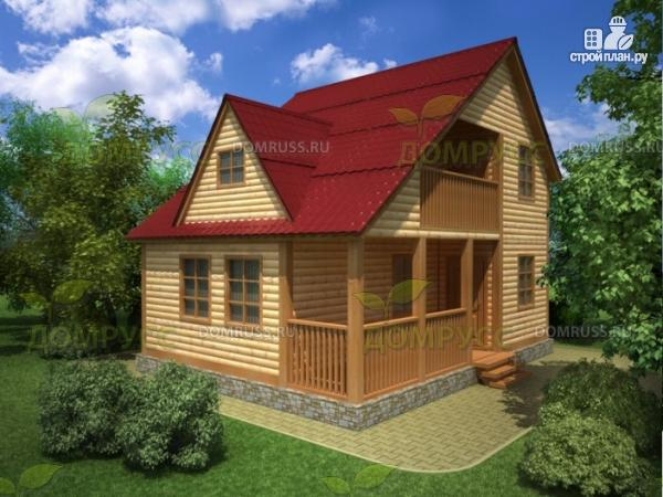 Фото: проект дом 6х8 из профилированного бруса