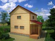 Проект дом из бруса в два этажа 6х8