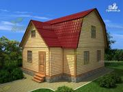 Фото: брусовой дом с мансардой