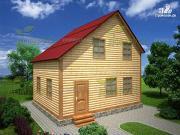 Проект брусовой дом 7х8