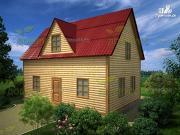 Фото: дом из бруса 6х9 с мансардой