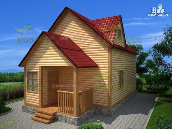 Фото: проект дом из бруса 6х9 с крыльцом