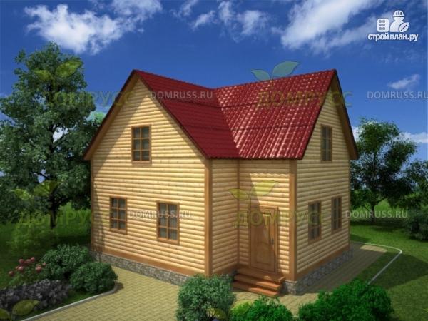 Фото: проект дом из бруса 8х9