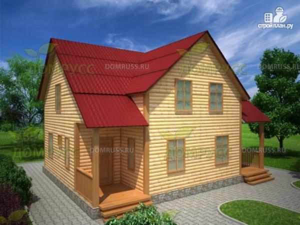 Фото: проект дом из бруса на две семьи 8х10
