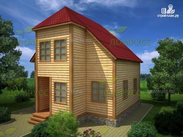 Фото: проект дом из бруса 7х8