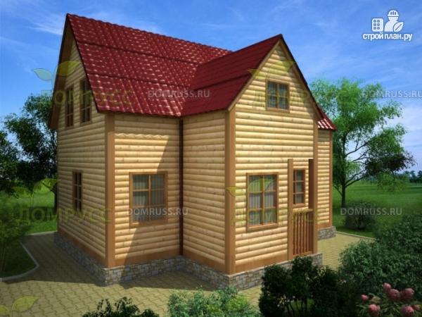 Фото: проект дом из бруса 8.5х6