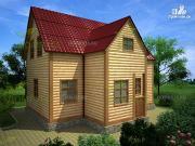 Проект дом из бруса 8.5х6