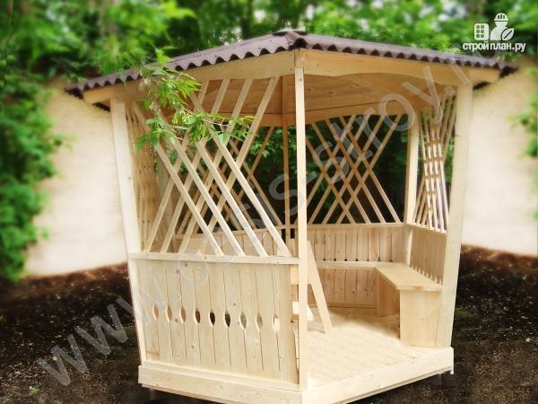 Фото: проект садовая беседка Фонарик