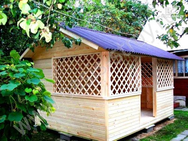 Фото 2: проект деревянная беседка 4х3
