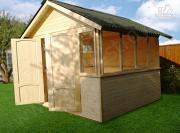 Проект застекленный домик 3х3м
