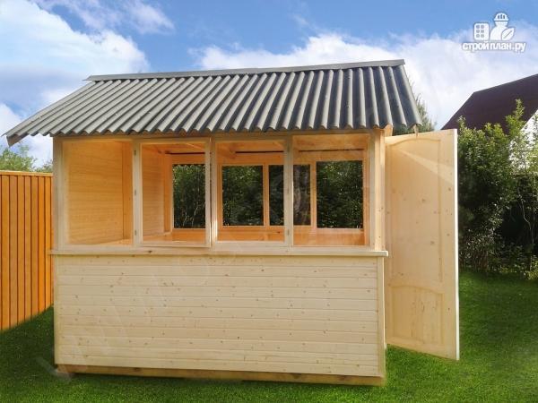 Фото 4: проект застекленный домик 3х3м
