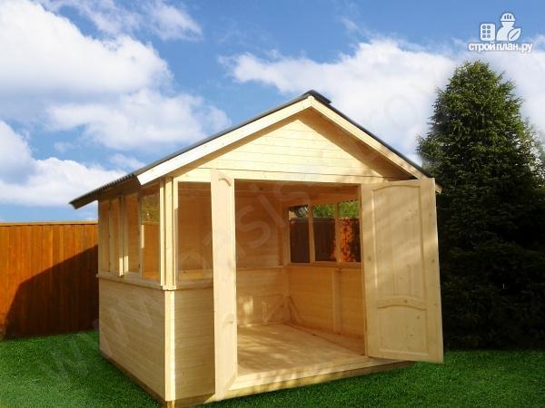 Фото 3: проект застекленный домик 3х3м