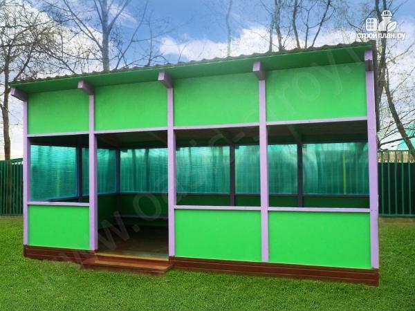 Фото: проект павильон 3.6х6м