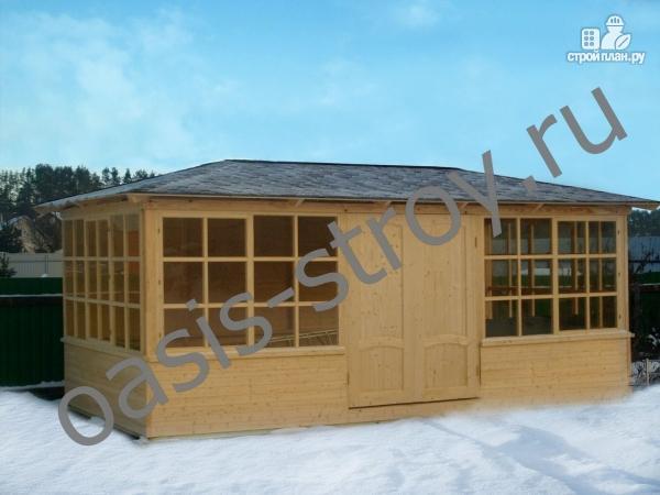 Фото: проект застекленный павильон 3х6 м