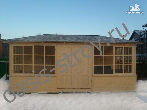 Фото 2: проект застекленный павильон 3х6 м