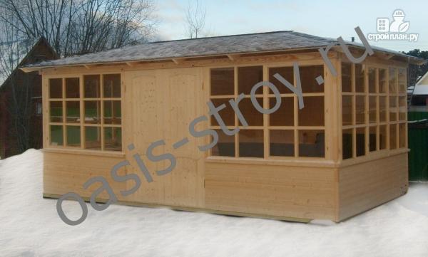 Фото 3: проект застекленный павильон 3х6 м