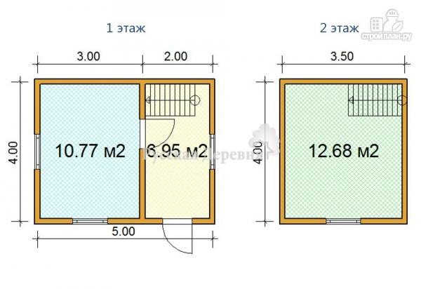 Фото 4: проект дешевый дачный домик 5х4 с мансардой