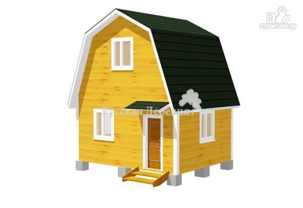 Фото: проект дешевый дачный домик 5х4 с мансардой