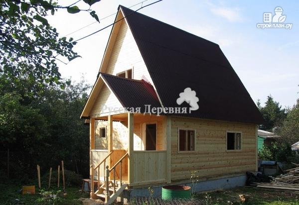 Фото 2: проект дачный домик 5х4 с крыльцом 2,5х1,5, мансардный