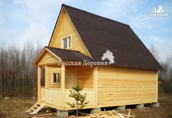Фото 4: проект дачный домик 5х4 с крыльцом 2,5х1,5, мансардный