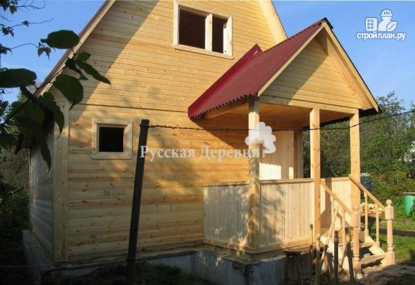 Фото 3: проект дачный домик 5х4 с крыльцом 2,5х1,5, мансардный