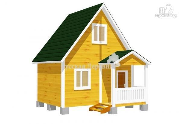 Фото: проект дачный домик 5х4 с крыльцом 2,5х1,5, мансардный