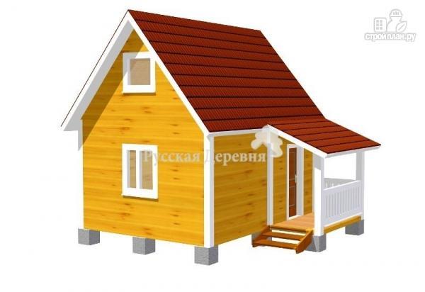 Фото: проект мансардный дачный домик  4х5 с крыльцом 1,5х2,5