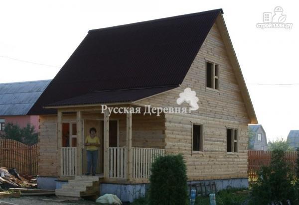 Фото 2: проект мансардный дачный домик  4х5 с крыльцом 1,5х2,5