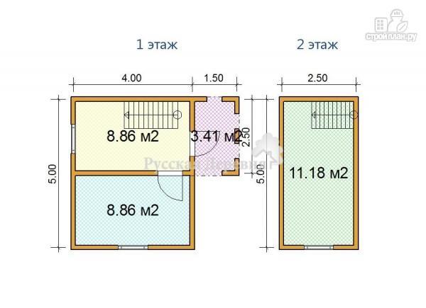 Фото 3: проект мансардный дачный домик  4х5 с крыльцом 1,5х2,5