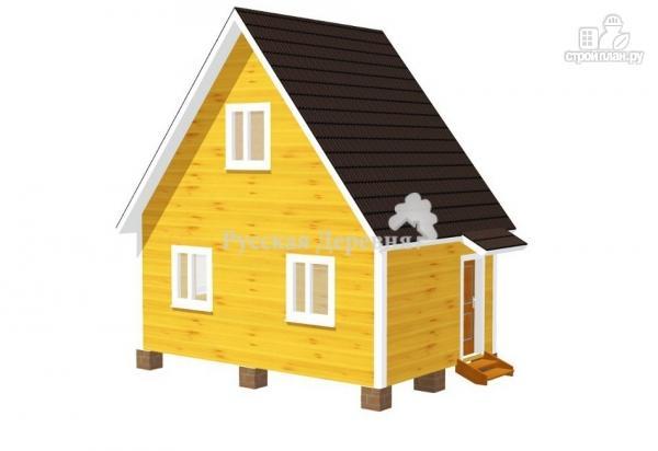 Фото: проект небольшой двухкомнатный дачный домик 6х4 с мансардой