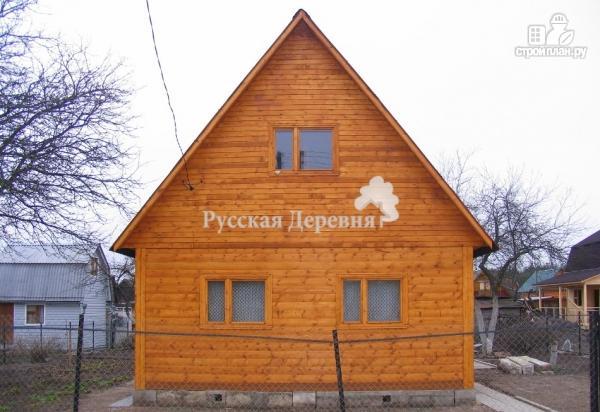 Фото 3: проект небольшой двухкомнатный дачный домик 6х4 с мансардой